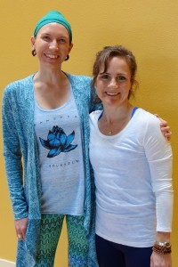 Shiva Reinhardt with her teacher Christina Sell